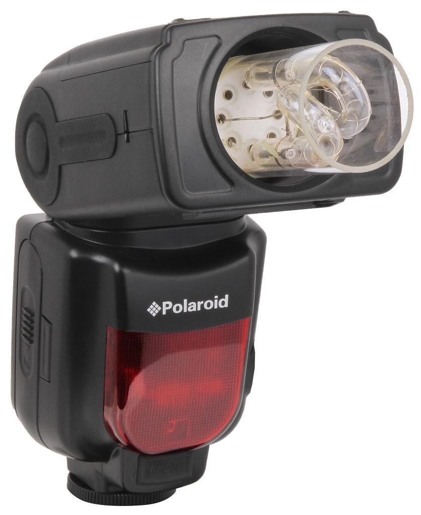 Polaroid PL-135 Bare Bulb Power Zoom Bounce & Swivel Flash For The Nikon D5300, D5000, D3000, D3200, D3300, D5100, D5200, D3100, D7000, D7100, D4, D4s, D750, D810, D800, D800E, D600, D610, D40, D40x, D50, D60, D70, D80, D
