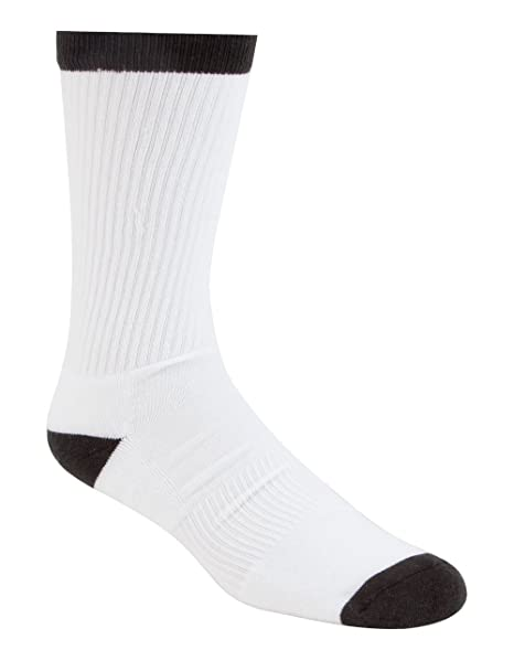 25f2b383c22b2c Nike SB 3PPK Crew Sock - White Black at Amazon Men s Clothing store