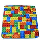 Wolala Home Colorful Lattice Geometric Splice Kids Room Area Rugs Doormat Thin Washable Non-slip Rug (2'6x2'6)