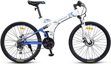 8haowenju Bicicleta Plegable para amortiguar los Golpes ...