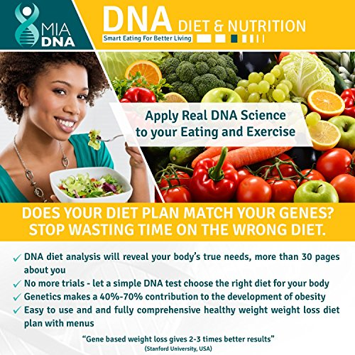 MiaDNA Bundle Genetic Home DNA Test Kit for Diet & Nutrition Together with Exercise & Fitness DNA Test. Leverage Personal Genetic Testing (1)