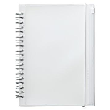 無印良品 ポリプロピレンカバーダブルリングノート・ポケット付 本文A5サイズ・白・