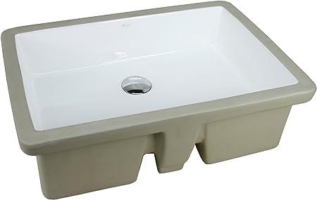 27.9 INCH KINGSMAN Durable 27.9 Rectrangle Undermount Vitreous Ceramic Lavatory Vanity Bathroom Sink Pure White