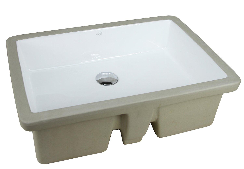 LARGE 22 Inch Rectrangle Undermount Vitreous Ceramic Lavatory Vanity Bathroom Sink Pure White RP595P