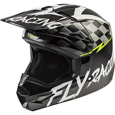 Fly Racing 2020 Youth Kinetic Helmet - Sketch (LARGE) (MATTE BLACK/WHITE/HI-VIZ): Automotive