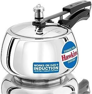 Hawkins Contura-SSC30 Pressure cooker, Small, Silver