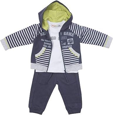 BABY-BOL - CHÁNDAL NIÑO 3 Piezas niños Color: Plomo Talla: 5 ...
