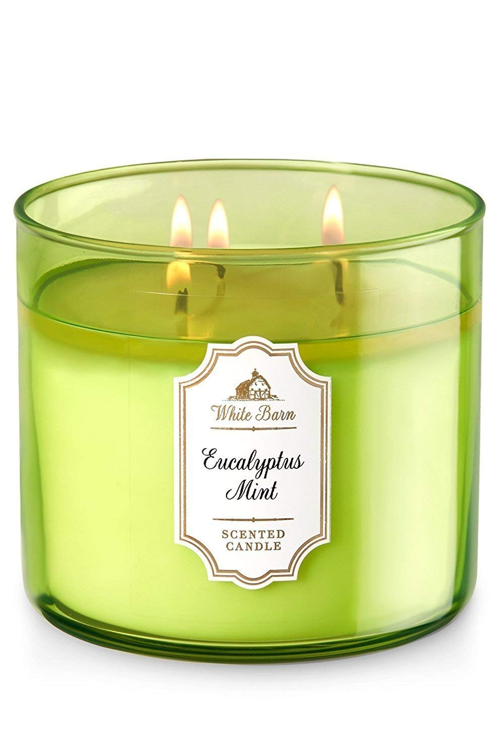 White Barn Bath & Body Works Eucalyptus Mint Scented 3 Wick Candle (Pack of Two)