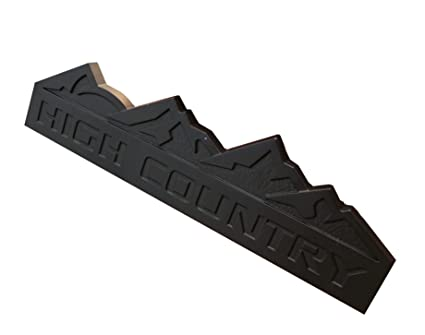 High Country Chevy >> Amazon Com 3d Matte Black High Country Rear Emblem Badge