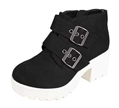 Lustacious Women's Round Toe Ankle Boot with Side Zipper and Stacked Heel