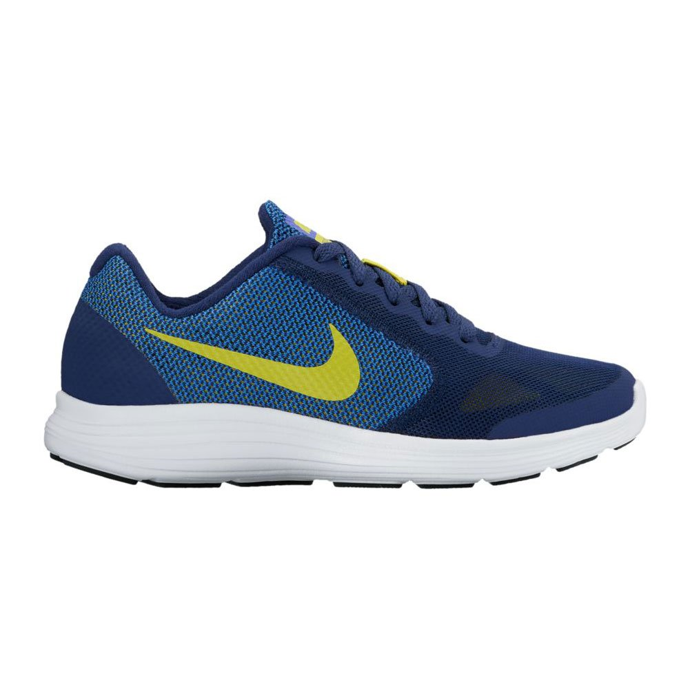 NIKE Kids' Revolution 3 (GS) Running Shoes B01GZBF99O 6 M US Big Kid|Binary Blue/Electrolime/Paramount Blue