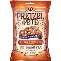 6-Pack Pretzel Pete Seasoned Mini Twist Pretzels 3.5 Ounce Bag