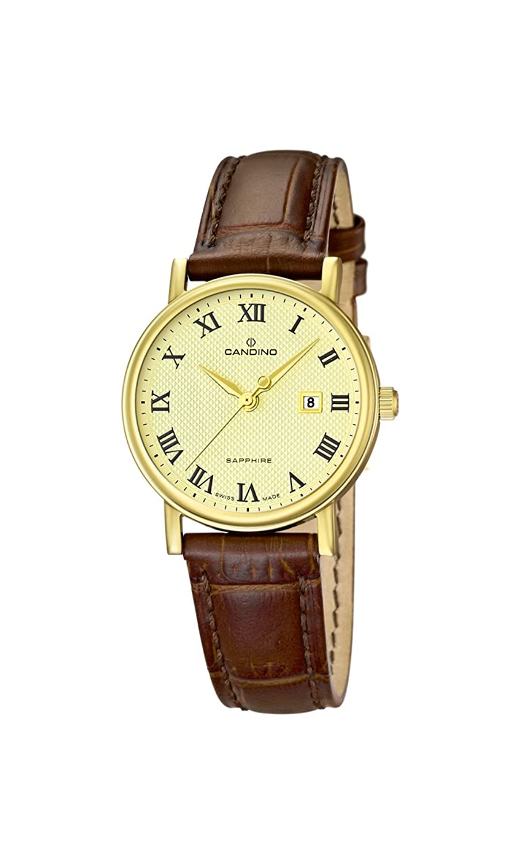 Candino Damen-Armbanduhr XS Analog Quarz Leder C4490-4