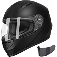 $58 » GLX GX11 Compact Lightweight Full Face Motorcycle Street Bike Helmet with Extra…