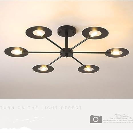 Amazon.com: IJ injuicy moderno moda hierro lámpara de techo ...