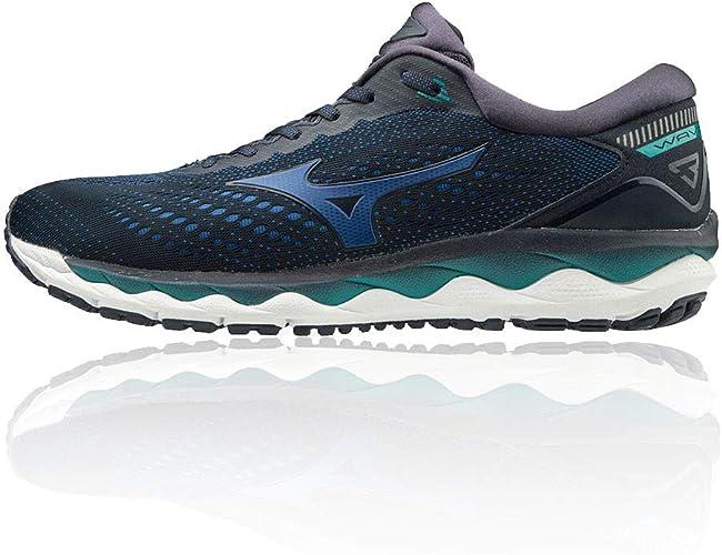 Mizuno Herren Wave Sky 3 Turnschuhe Laufschuhe Sneaker Blau Sport