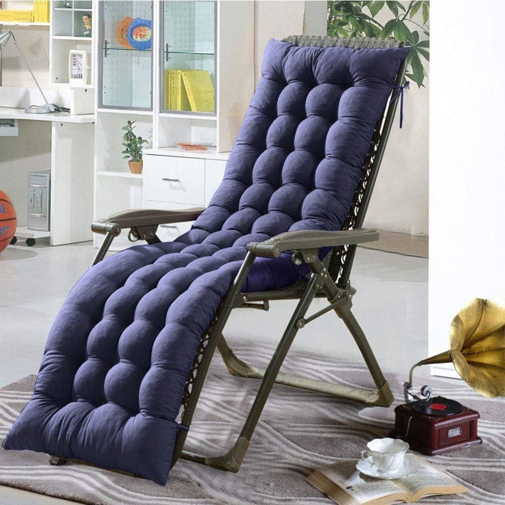 Cojín para silla de salón o tumbona reclinable, cojín con diseño de colchón para tumbonas en el patio, jardín, exteriores, galería, de Soddyenergy., azul: Amazon.es: Jardín