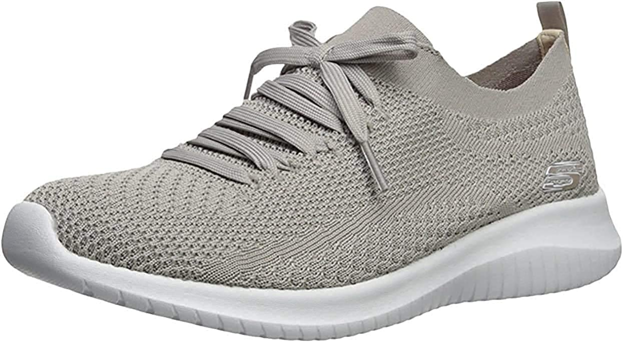 Skechers Ultra Flex Statements, Baskets Enfiler Femme Gris
