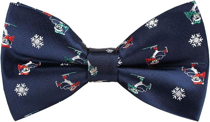 Retreez Christmas Cheerful Snowman Woven Pre-tied Boys Bow Tie