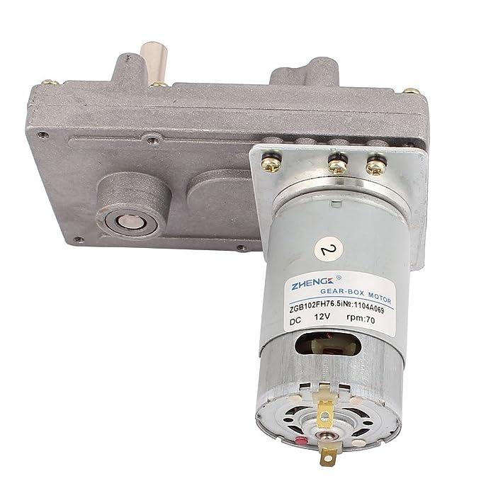 eDealMax DC12V 70 rpm de alto par eléctrico DC gusano de la caja de engranajes del motor reductor de velocidad - - Amazon.com