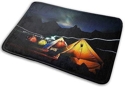Alfombra para Cocina,Camping Night Aurora Carpa ...