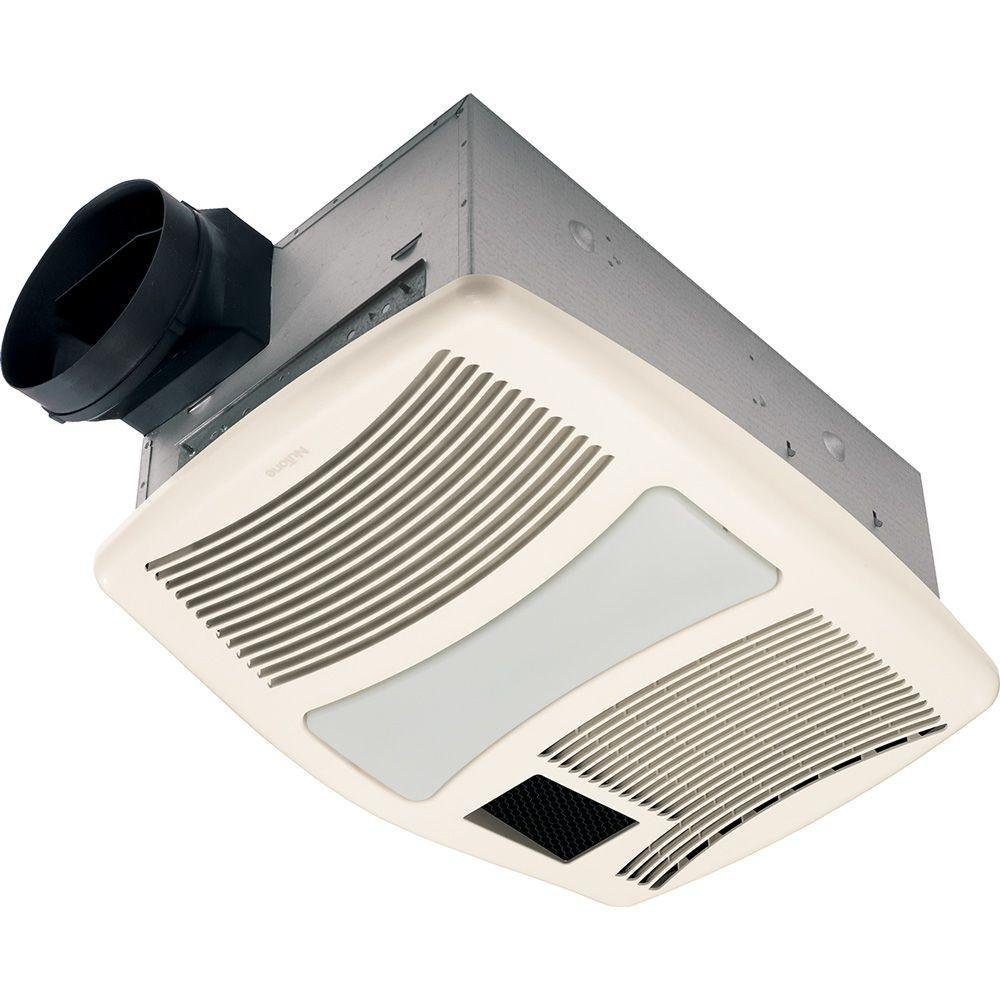Beau NuTone QTXN110HFLT 110CFM Bath Fan With Heater And Flourescent Light   Bathroom  Fans   Amazon.com