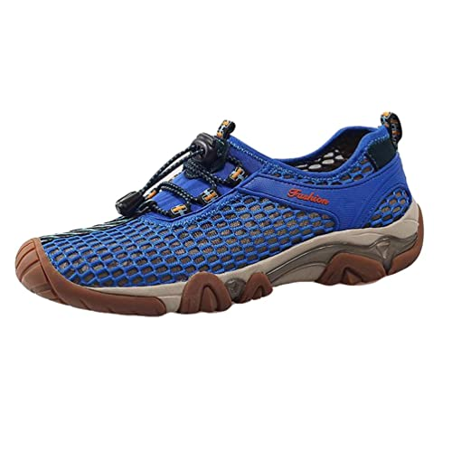 Baymate Hombres Cómodas Sandalias Slip-on Malla Exterior Zapato de Agua Zapatillas de Deporte Azul 38 3qRSvVu