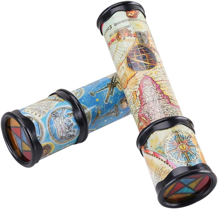 Kisangel Juego de 2 caleidoscopio de juguete educativo de regalo para niños más pequeños (estilo aleatorio)