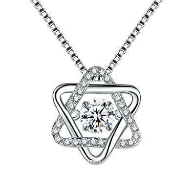 Buy Hulameda Sterling Silver Necklaces 5a Cubic Zirconia S925