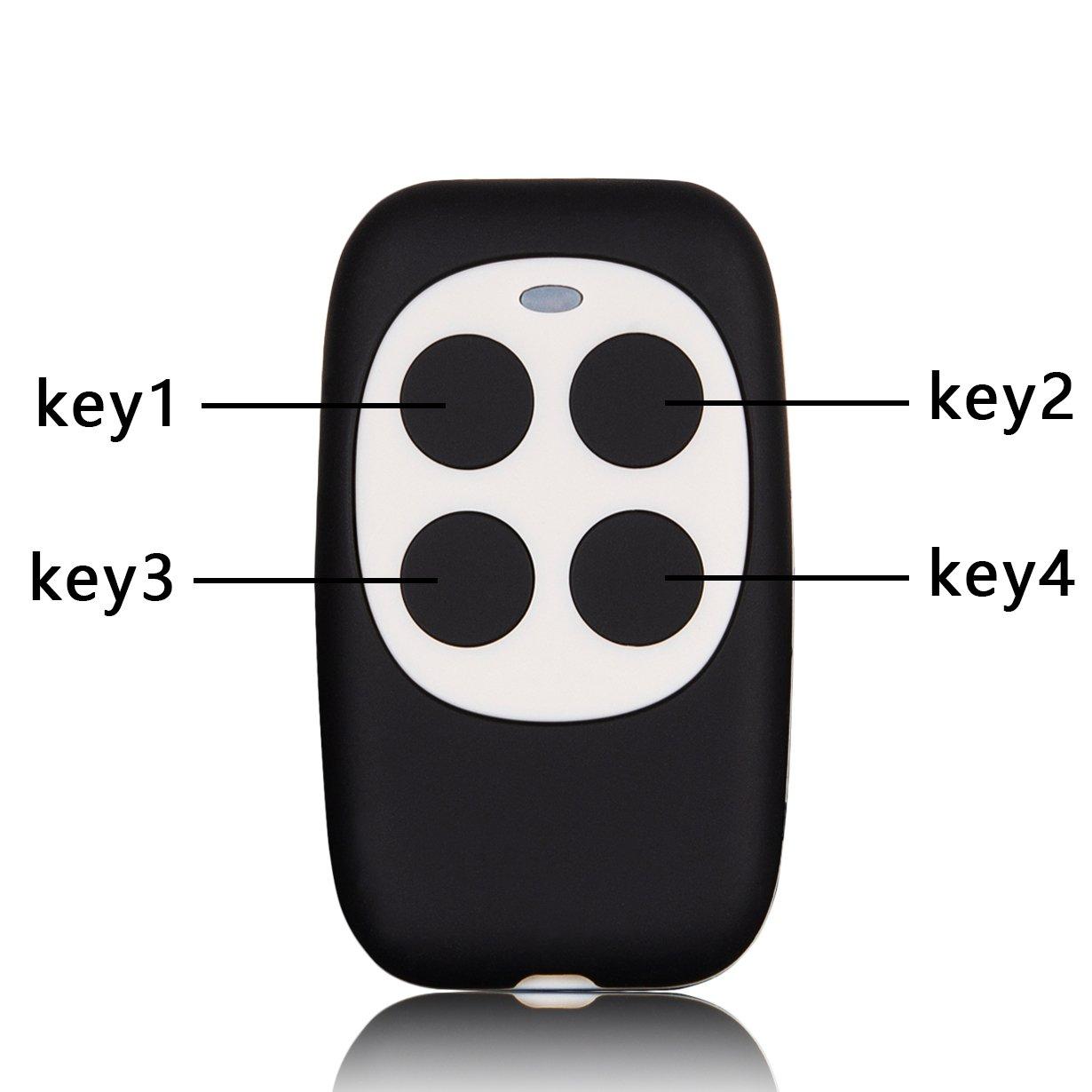 xihada固定コード、ローリングコードガレージドアリモートコントローラDuplicator/リモートキーレスキーマルチ周波数280 mhz-350mhz/380mhz-450mhz/867mhz-868mhzカラーブラックwithホワイト B07CYFJMF8 18041