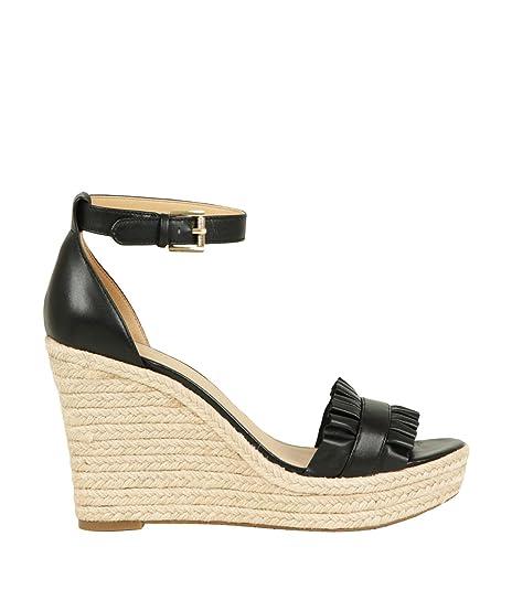 f00842dcba2 Michael Kors Women s Shoes Wedge Sandals 40S8BLHS1L Bella Wedge Black Size  38 Black  Amazon.ca  Shoes   Handbags