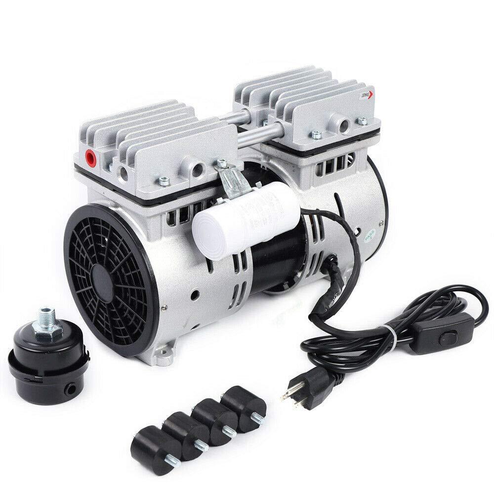 Oilless Diaphragm Vacuum Pump 110V 550W Oilfree Micro Air Diaphragm Pump Electric Motor Pump Oil Free Mute Vacuum Pump 67L/min
