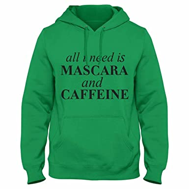 Inca Mascara and Caffiene Cool Funny Womens - Hoodie, Maroon, Print Color-Black