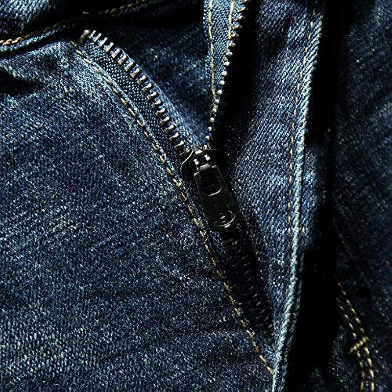 YANGPP Slim Fit Jeans Herbst Und Winter Blau Stretch Pockets Men Man Jeans, Blau, 32: Sport & Freizeit