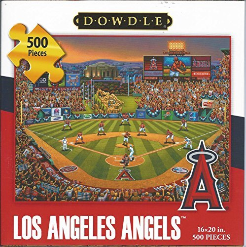 Angels Puzzle - Dowdle Folk Art 500 Piece Puzzle Los Angeles Angels Baseball 16