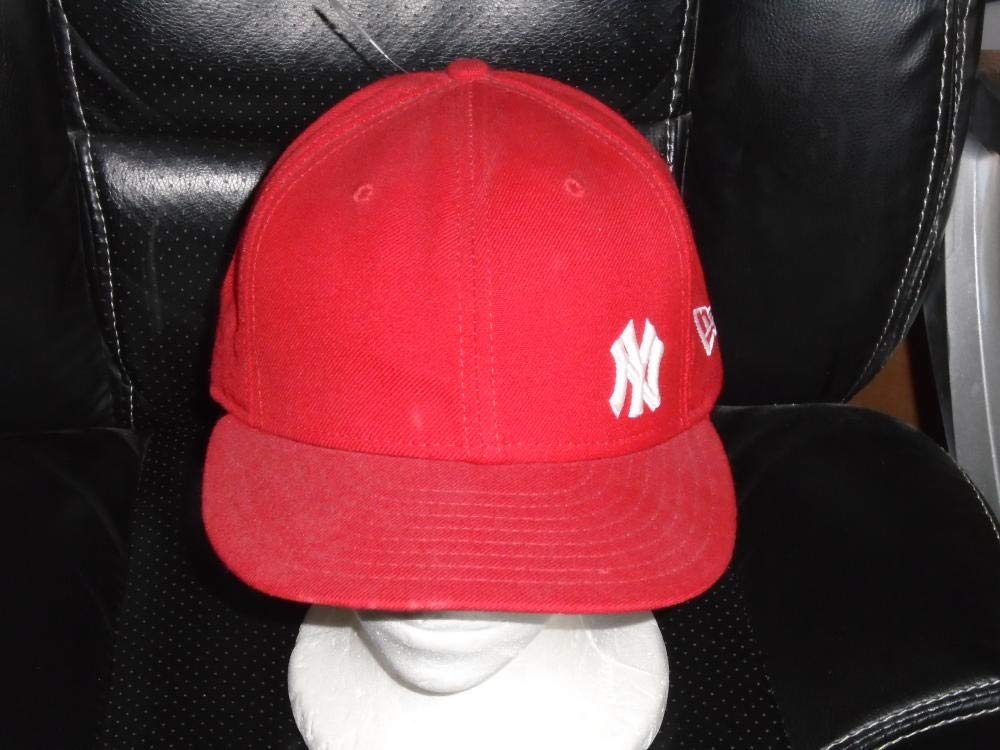 UNUSUAL NEW YORK YANKEES 59FIFTY BASEBALL RED HAT FITTED HAT 7 1/4 NEW