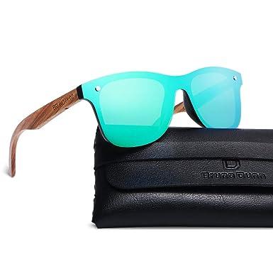 Vintage Wayfarer Style Polarized Mirror Green Lense Stylish Wood Frame Sunglasses For Men Women 2018 Anniversary