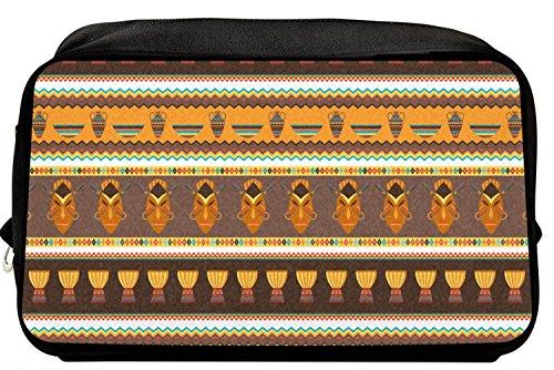 African Stripes Vase (African Masks Toiletry Bag/Dopp Kit)