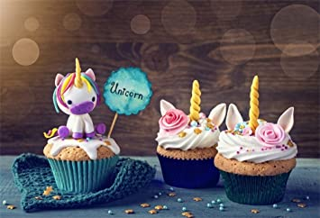 Amazoncom Ofila Cute Unicorn Backdrop 7x5ft Cupcake Stars Baby