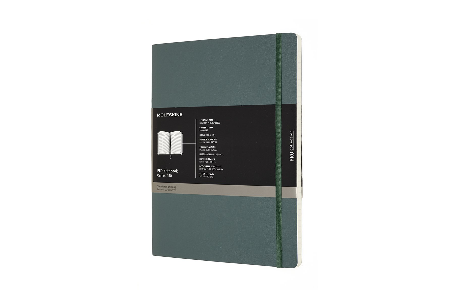 Moleskine Pro Soft Cover Notebook XL 7.5 x 9.75 Forest Green
