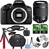 Canon EOS Rebel T6i 24.2MP Camera + Tamron 18-200mm Di II VC Lens + 3 piece Filter Kit+ 2 pc 16GB Memory Card + Grip Strap + Memory Card Reader + Camera Bag + Flexible Tripod + 6 pc Starter kit