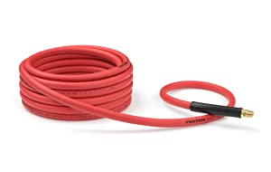 TEKTON 46135 3/8-Inch I.D. by 25-Foot 300 PSI Hybrid Air Hose with 1/4-Inch MPT Ends and Bend Restrictors