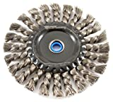 615iNEE4hLL. SL160  - Forney 72840 Wire Wheel Brush, Industrial Pro Twist Knot with 1/2-Inch thru 5/8-Inch Multi Arbor, 6-Inch-by-.020-Inch