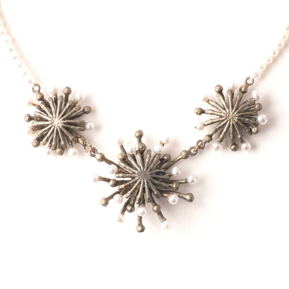 ''Fire Wheel'' Contour Pearl Necklace by Michael Michaud for Silver Seasons…