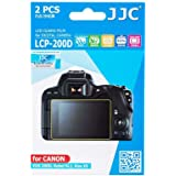JJC LCP-200D 2PCS PET Film Camera Rebel SL2 Screen Protector for Canon Rebel SL2 / EOS 200D / Kiss X9 DSLR