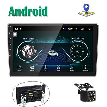 Android Radio Coche 2 DIN GPS Navi Autoradio estéreo Camecho 10 Pantalla táctil Bluetooth FM Receptor Teléfono móvil Enlace de Espejo con Doble USB ...
