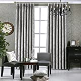 "Curtains for Bedroom Luxury Blackout Curtains for Living Room Chenille Window Treatments 52 by 84 Inch Length 2 Panels Included (52"" W x 84"" L, Grey) Review"