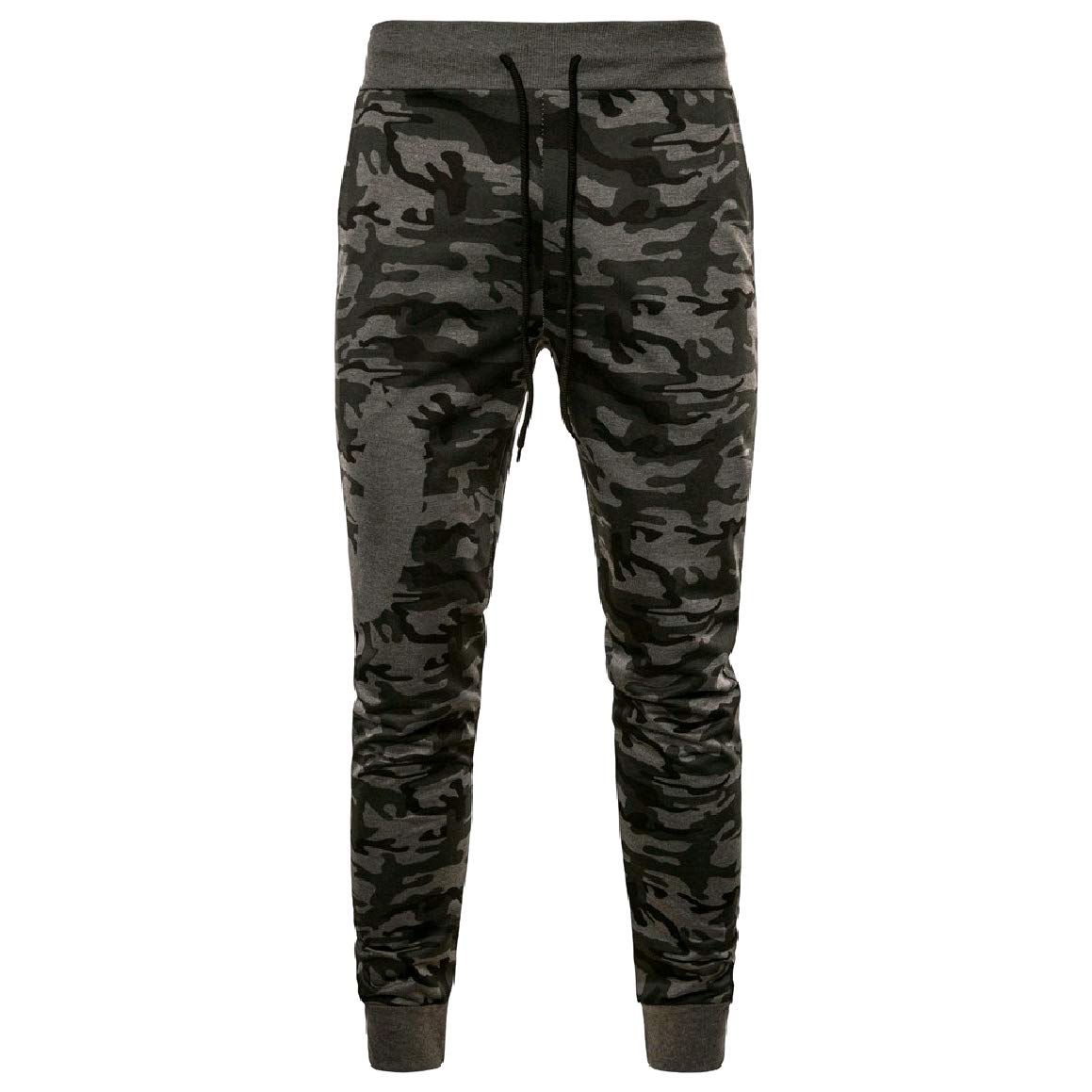 Romantc Mens Elastic Bottom Juniors Oversize Camo Trousers Pants