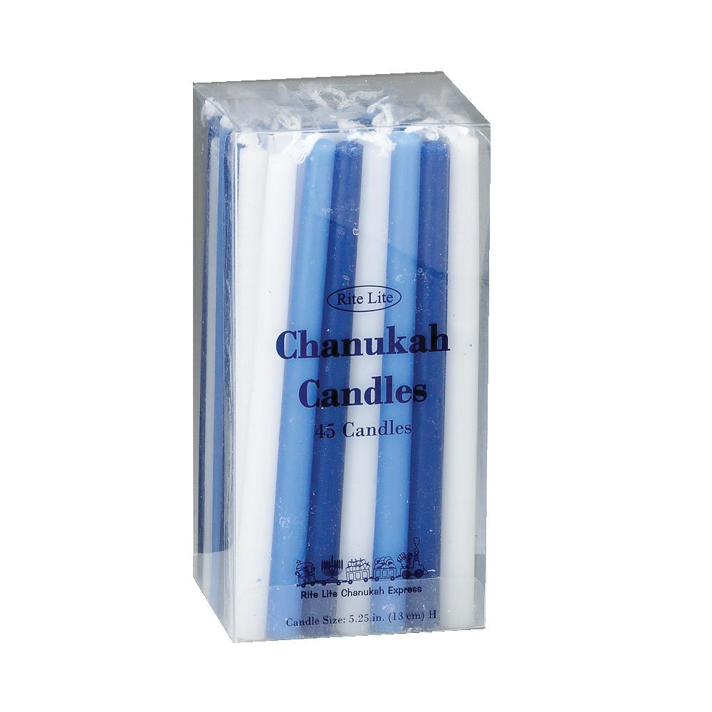 Rite Lite LTD Deluxe Blue White Chanukah Candles C-10-BWN2
