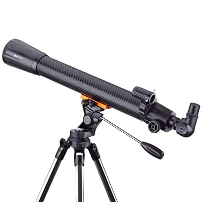 IQCrew 35X-525X 70mm f/10 Refractor Telescope with 2-Section Altazimuth Tripod: Camera & Photo